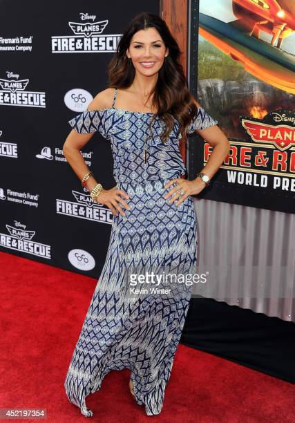 Actress Ali Landry attends the premiere of Disney's 'Planes Fire Rescue' at the El Capitan Theatre on July 15 2014 in Hollywood California