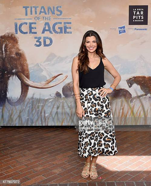 Actress Ali Landry attends the Titans of the Ice Age Premiere at La Brea Tar Pits and Museum on June 20 2015 in Los Angeles California