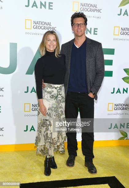 Actress Ali Larter and actor Hayes MacArthur arrive at the premiere of National Geographic Documentary Films' 'Jane' at the Hollywood Bowl on October...