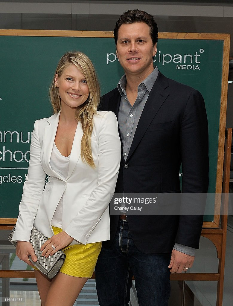 Actress Ali Larter and actor Hayes MacArthur attend Communities In Schools' SCHOOL LIFE Fundraiser hosted by Creative Artists Agency and Participant...