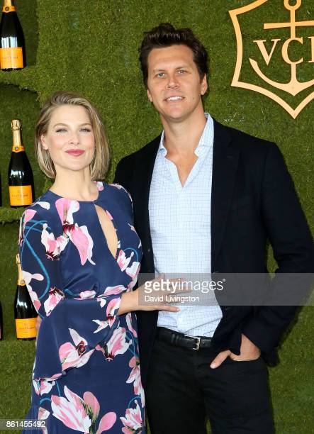 Actress Ali Larter and comedian Hayes MacArthur attend the 8th Annual Veuve Clicquot Polo Classic at Will Rogers State Historic Park on October 14...