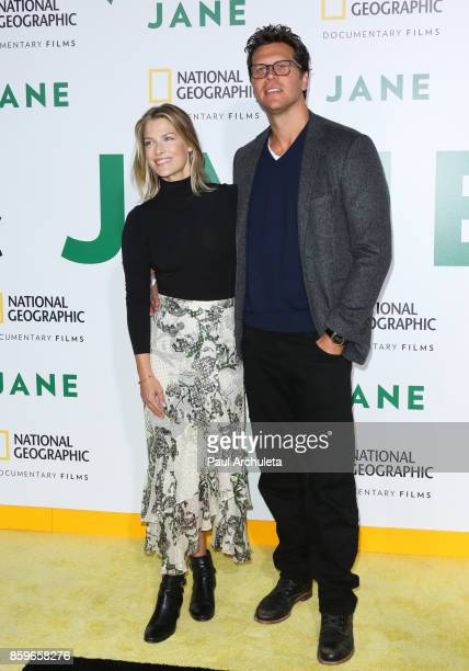 Actress Ali Larter and Comedian Hayes MacArthur attend the premiere of National Geographic documentary films' 'Jane' at the Hollywood Bowl on October...