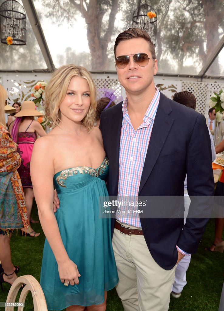 Actress Ali Larter and Hayes MacArthur attend the Third Annual Veuve Clicquot Polo Classic at Will Rogers State Historic Park on October 6 2012 in...