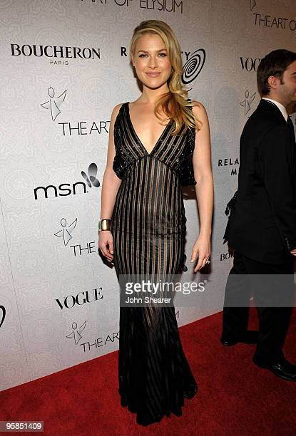 Actress Ali Larter arrives at The Art of Elysium's 3rd Annual Black Tie Charity Gala 'Heaven' on January 16 2010 in Beverly Hills California