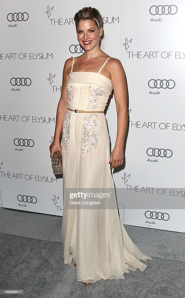 Actress Ali Larter attends the Art of Elysium's 6th Annual Black-tie Gala 'Heaven' at 2nd Street Tunnel on January 12, 2013 in Los Angeles, California.