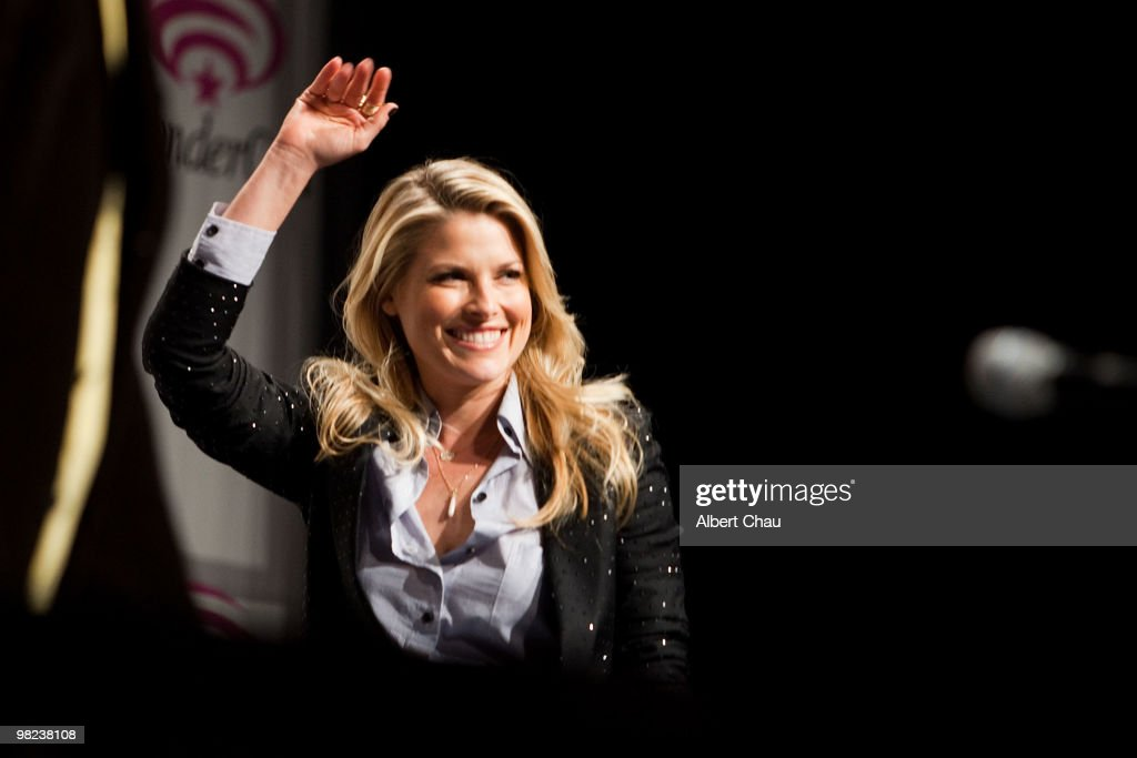 Actress Ali Larter attends the 'Resident Evil Afterlife' panel at the 2010 WonderCon Day 2 at Moscone Center South on April 3 2010 in San Francisco...