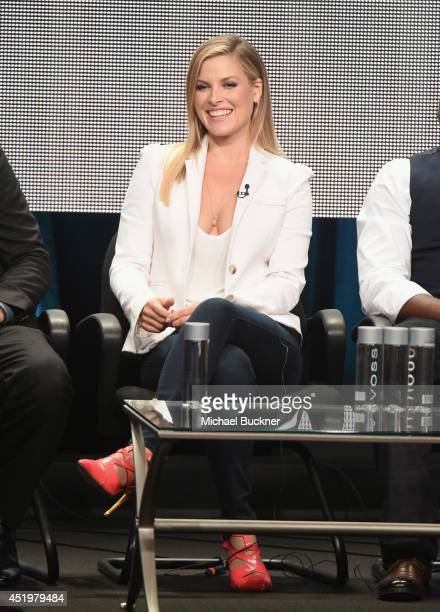 Actress Ali Larter speaks during the 'Legends' portion of the 2014 TCA Turner Broadcasting Summer Press Tour Presentation at The Beverly Hilton on...