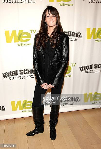 Actress Ali Lohan attends the 'High School Confidential' New York screening at The Times Center on March 5 2008 in New York City