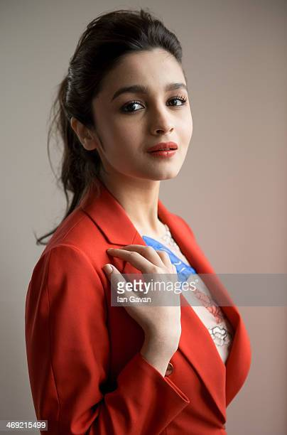 Actress Alia Bhatt by Photographer Ian Gavan poses during the 64th Berlinale International Film Festival at Glashuette Original Lounge on February 13...