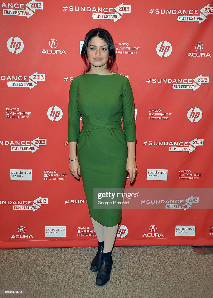 Actress Alia Shawkat attends the 'May In The Summer' premiere during the 2013 Sundance Film Festival at Eccles Center Theatre on January 17, 2013 in Park City, Utah.