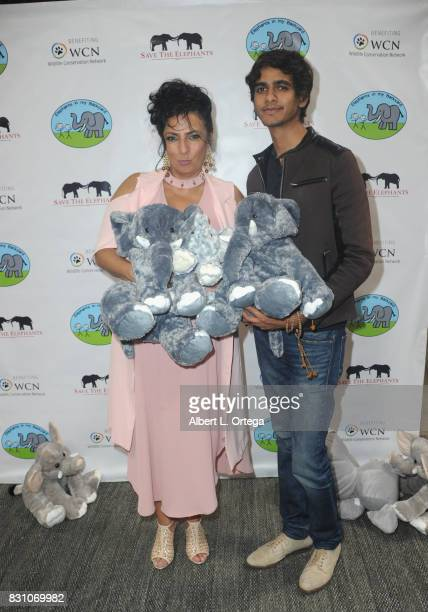Actress Alice Amter and actor Nirav Mehta attend the Celebration for World Elephant Day Hosted By Elephants In My Backyard held at Trunk Club on...