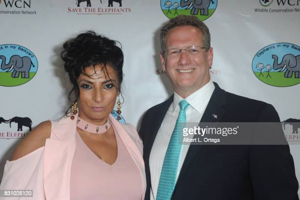 Actress Alice Amter and host Tom Campbell at the Celebration for World Elephant Day Hosted By Elephants In My Backyard held at Trunk Club on August...