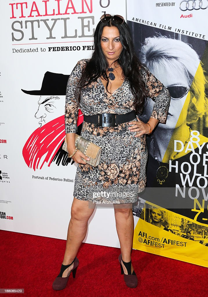 Actress Alice Amter attends the premiere of 'The Great Beauty' at the Cinema Italian Style 2013 Opening Night at the Egyptian Theatre on November 14, 2013 in Hollywood, California.
