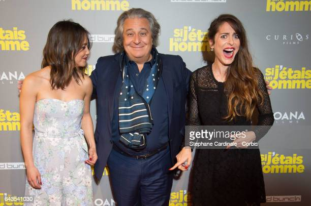 Actress Alice Belaidi actor Christian Clavier and Director and actress Audrey Dana attend the 'Si J'Etais Un Homme' Paris Premiere at Cinema Gaumont...