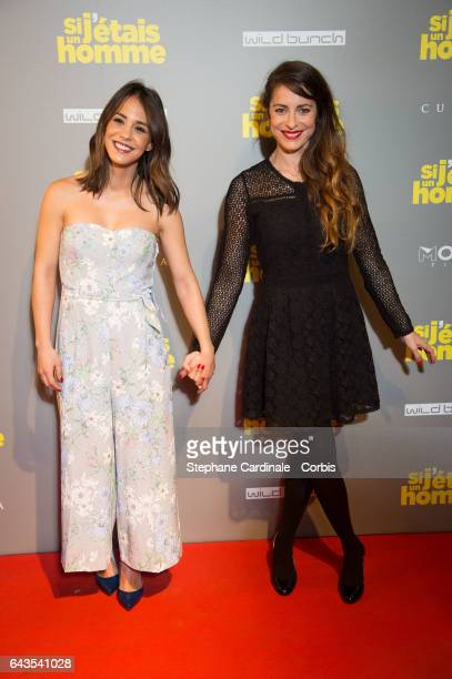 Actress Alice Belaidi and Director and Actress Audrey Dana attend the 'Si J'Etais Un Homme' Paris Premiere at Cinema Gaumont Opera