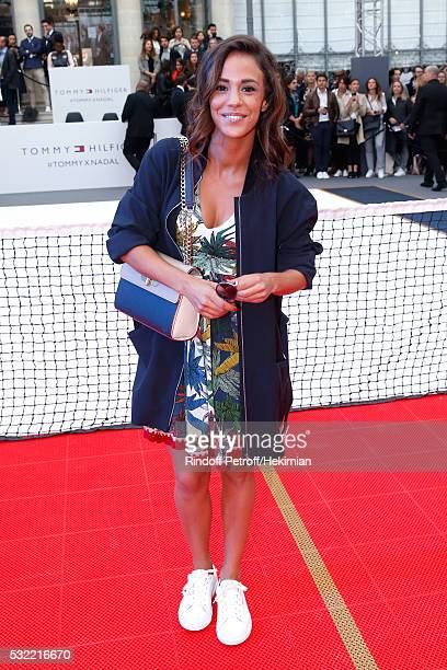 Actress Alice Belaidi attends Tommy Hilfiger hosts Tommy X Nadal Party Photocall on May 18 2016 in Paris