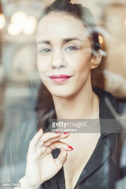 Actress Alice Belaidi is photographed for Self Assignment on February 25 2017 in Paris France