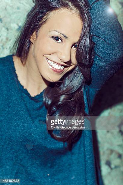 Actress Alice Belaidi is photographed for Self Assignment on January 9 2014 in Paris France