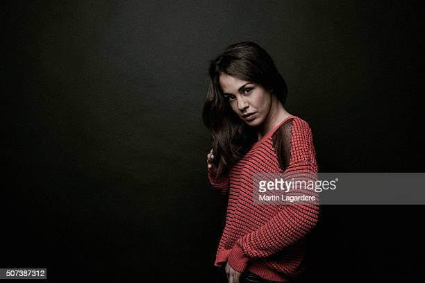 Actress Alice Belaidi is photographed for Self Assignment on January 6 2014 in Paris France