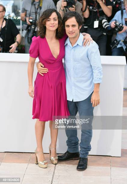 Actress Alice Braga and actor Gael Garcia Bernal attend the 'El Ardor' photocall at the 67th Annual Cannes Film Festival on May 18 2014 in Cannes...