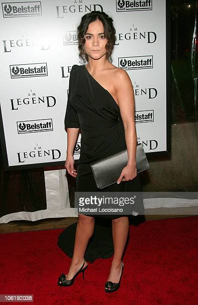 Actress Alice Braga attends 'I am Legend' premiere at the WaMu Theater at Madison Square Garden on December 11 2007 in New York City