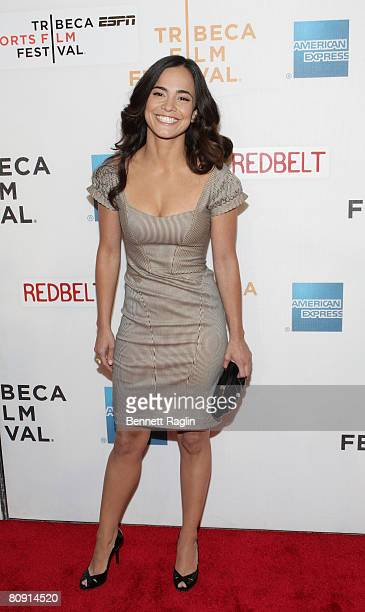 Actress Alice Braga attends the 'Red Belt' premiere at the 7th Annual Tribeca Film Festival Borough of Manhattan Community College April 25 New York...