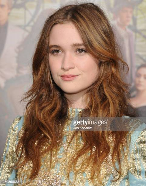 Actress Alice Englert arrives at the Los Angeles Premiere 'Beautiful Creatures' at TCL Chinese Theatre on February 6 2013 in Hollywood California