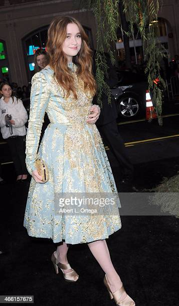 Actress Alice Englert arrives for the Premiere Of Warner Bros Pictures' 'Beautiful Creatures' held at TCL Chinese Theater on February 6 2013 in...