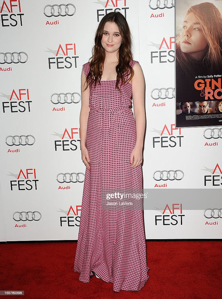 Actress Alice Englert attends the 2012 AFI Fest premiere of 'Ginger & Rosa' at Grauman's Chinese Theatre on November 7, 2012 in Hollywood, California.