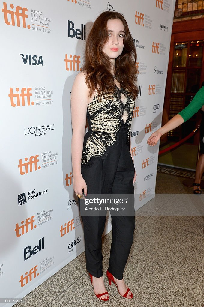 Actress Alice Englert attends the 'Ginger & Rosa' premiere during the 2012 Toronto International Film Festival at the The Elgin on September 7, 2012 in Toronto, Canada.
