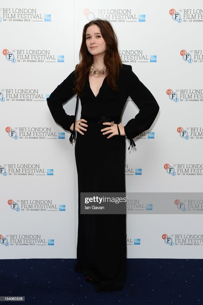 Actress Alice Englert attends the premiere of 'Ginger and Rosa' during the 56th BFI London Film Festival at Odeon West End on October 13, 2012 in London, England.