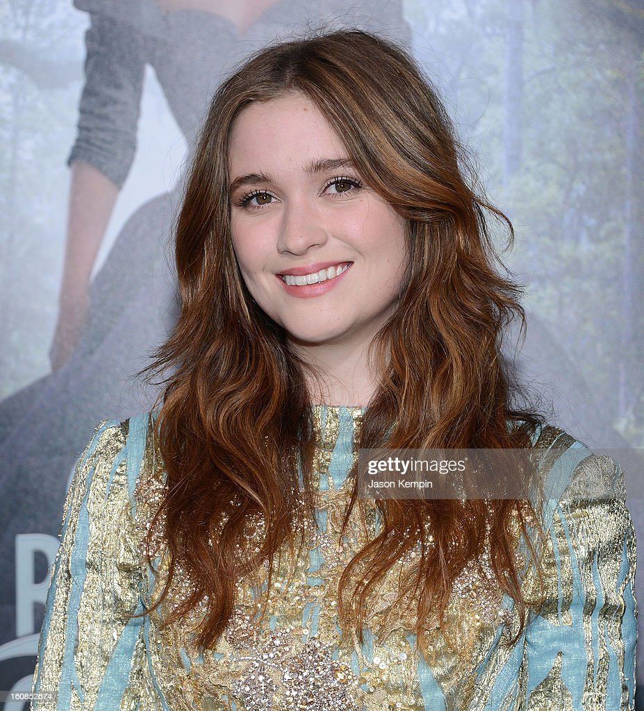 Actress Alice Englert attends the premiere of Warner Bros. Pictures' 'Beautiful Creatures' at TCL Chinese Theatre on February 6, 2013 in Hollywood, California.