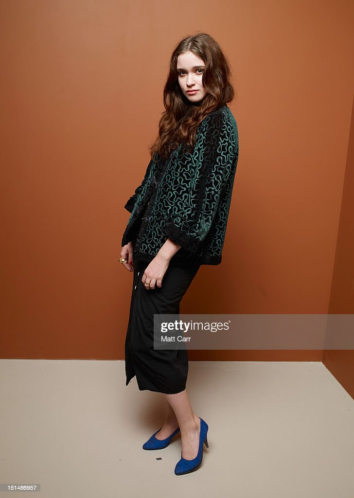 Actress Alice Englert of 'Ginger And Rosa' poses at the Guess Portrait Studio during 2012 Toronto International Film Festival on September 7, 2012 in Toronto, Canada.