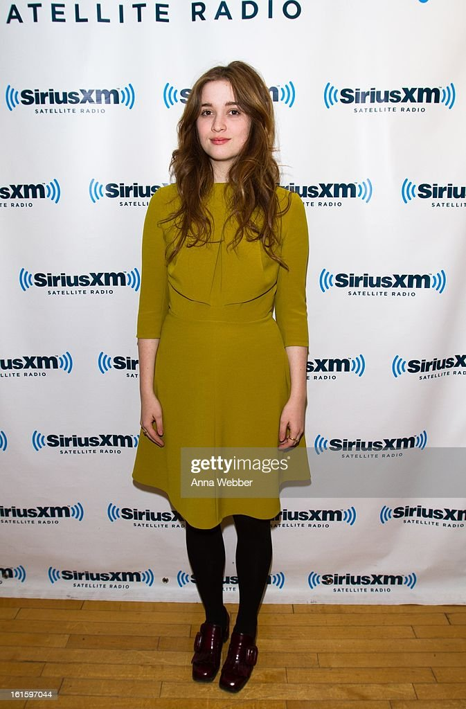 Actress <a gi-track='captionPersonalityLinkClicked' href=/galleries/search?phrase=Alice+Englert&family=editorial&specificpeople=616562 ng-click='$event.stopPropagation()'>Alice Englert</a> visits SiriusXM Studios on February 12, 2013 in New York City.