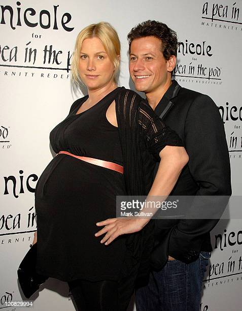 Actress Alice Evans and actor Ioan Gruffudd arrive at the 'nicole' Launch Party at A Pea In The Pod on August 6 2009 in Beverly Hills California