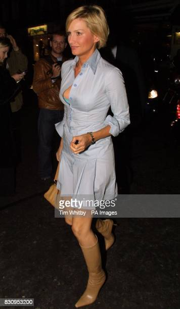Actress Alice Evans arrives for the new Jimmy Choo concession launch party and private dinner at Harvey Nichols in London