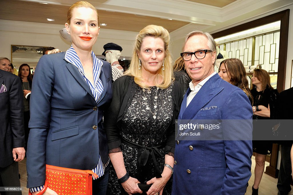 Actress Alice Evans, philanthropist Nancy Davis and fashion designer Tommy Hilfiger attend Tommy Hilfiger New West Coast Flagship Opening on Robertson Boulevard on February 13, 2013 in West Hollywood, California.