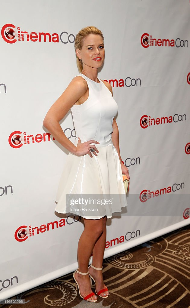 Actress Alice Eve arrives at a Paramount Pictures presentation to promote her upcoming film, 'Star Trek Into Darkness' during CinemaCon at Caesars Palace on April 15, 2013 in Las Vegas, Nevada.