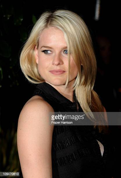 Actress Alice Eve arrives at the Chanel and Charles Finch PreOscar Dinner at Madeo Restaurant on February 26 2011 in Los Angeles California