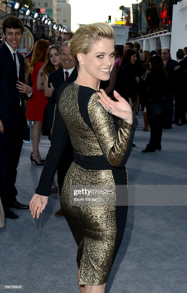 Actress Alice Eve arrives at the Premiere of Paramount Pictures' 'Star Trek Into Darkness' at Dolby Theatre on May 14, 2013 in Hollywood, California.