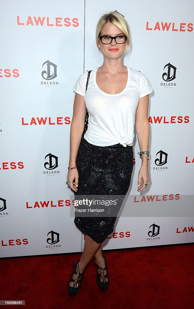 Actress Alice Eve arrives at the Premiere of the Weinstein Company's 'Lawless' at ArcLight Cinemas on August 22, 2012 in Hollywood, California.