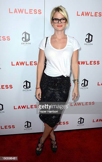 Actress Alice Eve arrives at the Premiere of the Weinstein Company's 'Lawless' at ArcLight Cinemas on August 22 2012 in Hollywood California