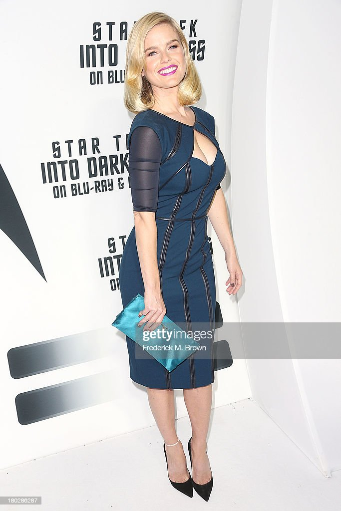 Actress <a gi-track='captionPersonalityLinkClicked' href=/galleries/search?phrase=Alice+Eve+-+Actress&family=editorial&specificpeople=570229 ng-click='$event.stopPropagation()'>Alice Eve</a> attends 'Star Trek Into Darkness' Blu-ray/DVD Release Event at the California Science Center on September 10, 2013 in Los Angeles, California.