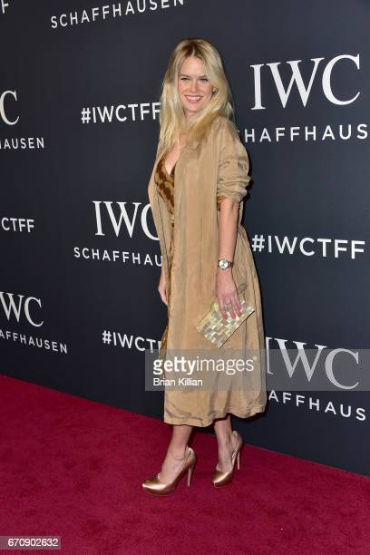 Actress Alice Eve attends the 5th Annual IWC Schaffhausen Tribeca Film Festival 'For The Love Of Cinema' Gala at Spring Studios on April 20 2017 in...