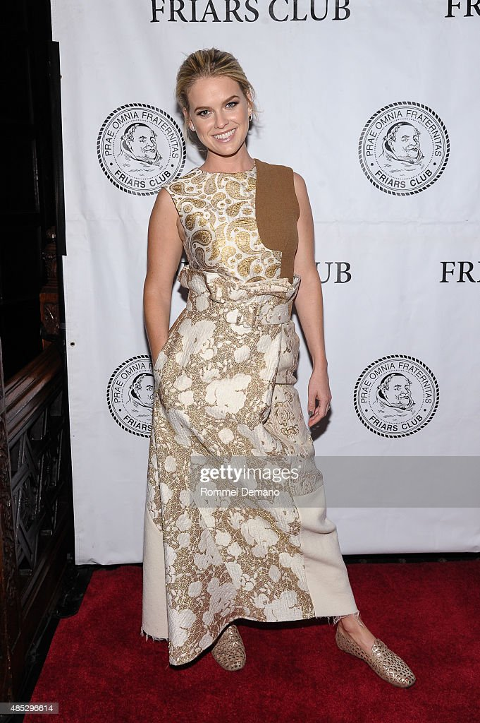 Actress <a gi-track='captionPersonalityLinkClicked' href=/galleries/search?phrase=Alice+Eve+-+Actress&family=editorial&specificpeople=570229 ng-click='$event.stopPropagation()'>Alice Eve</a> attends The Friars Club presents an evening with 'Dirty Weekend' at The Friars Club on August 26, 2015 in New York City.