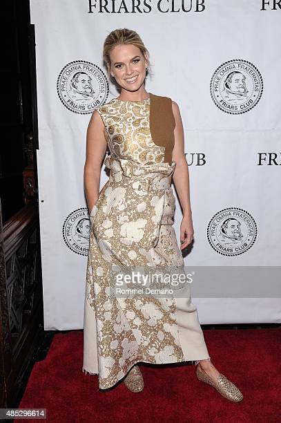 Actress Alice Eve attends The Friars Club presents an evening with 'Dirty Weekend' at The Friars Club on August 26 2015 in New York City