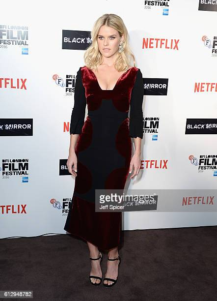 Actress Alice Eve attends the LFF Connects Television 'Black Mirror' screening during the 60th BFI London Film Festival at Chelsea Cinema on October...