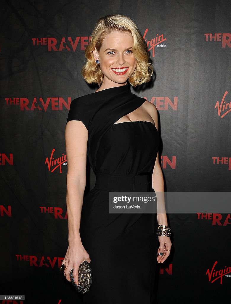 Actress <a gi-track='captionPersonalityLinkClicked' href=/galleries/search?phrase=Alice+Eve+-+Actress&family=editorial&specificpeople=570229 ng-click='$event.stopPropagation()'>Alice Eve</a> attends the premiere of 'The Raven' at Los Angeles Theatre on April 23, 2012 in Los Angeles, California.