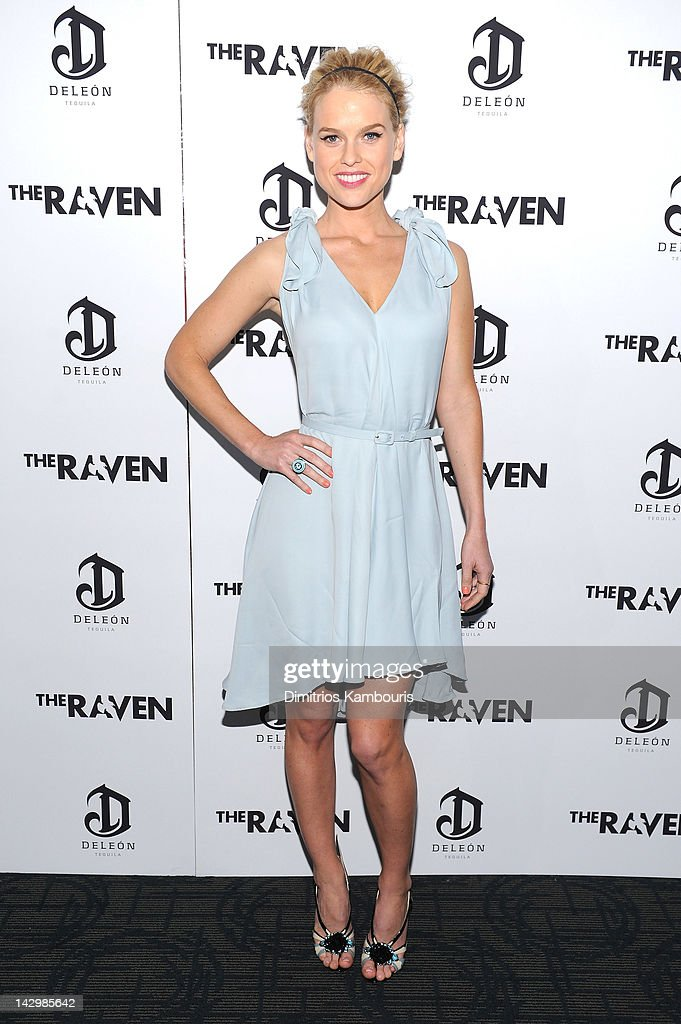 Actress Alice Eve attends 'The Raven' NY Screening Presented By DeLeon Tequila at Landmark Sunshine Cinema on April 16 2012 in New York City
