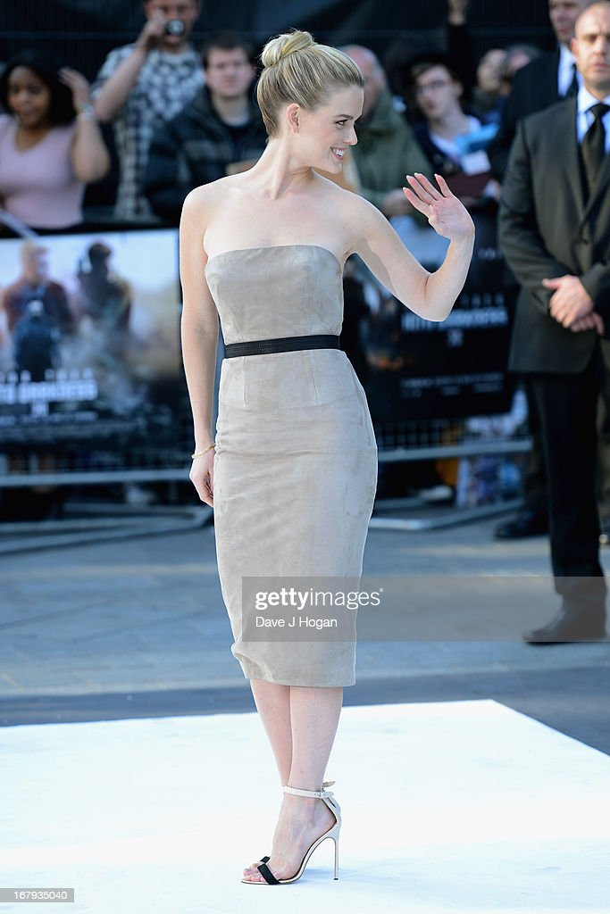 Actress Alice Eve attends the 'Star Trek Into Darkness' UK Premiere at the Empire Leicester Square on May 2, 2013 in London, England.